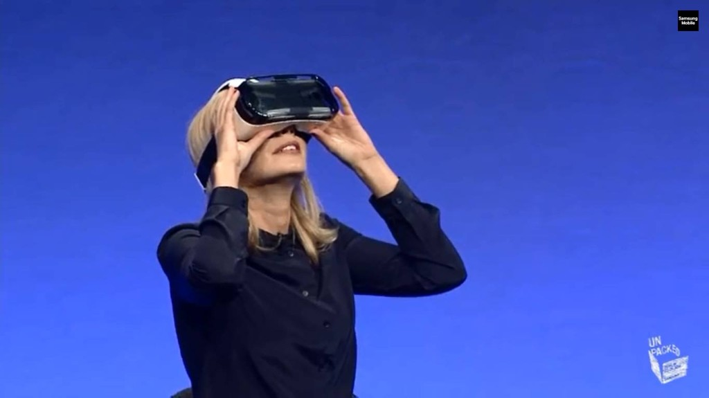 Samsung Unpacked - Rachel Riley using VR Gear