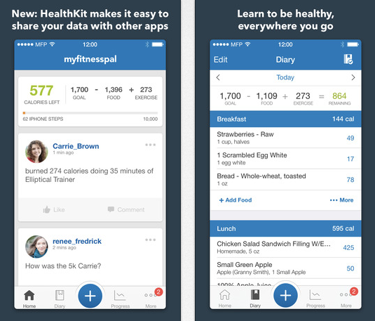 Top 5 Health and Fitness apps - Calorie Counter & Diet Tracker by MyFitnessPal