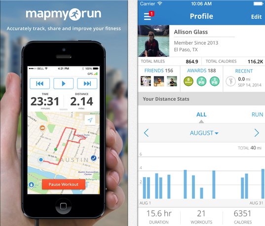 Top 5 Health and Fitness apps - MapMyRun