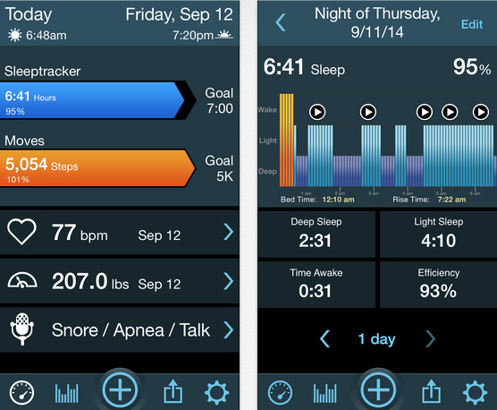 Top 5 Health and Fitness apps - MotionX 24/7 Sleeptracker