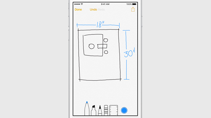 Apple Notes doodle