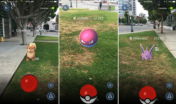 Pokémon creatures in the real world.