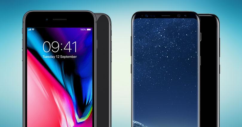 iphone 8 vs samsung s8 welke is beter